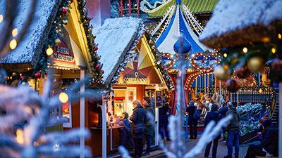 Köpenhamn med Tivolis Julmarknad